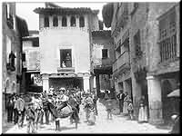 Plaza Mayor. Foto de Julio Soler Santaló. Entre 1902 - 1913