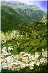 Landscape of Bielsa, its valley